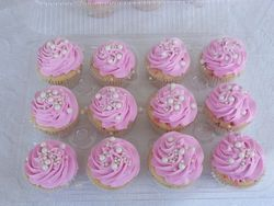 Pink and Pearls Cupcakes