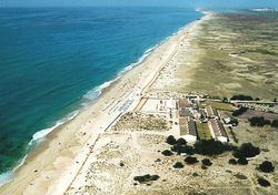 Birds eye view odf Barilla Beach