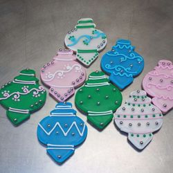 ornament cookies $3.50 each