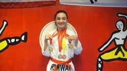 04/03/2011 Championship Amanda Martinez 1st place forms 1st place breaking 3rd place fighting 1st place exhibition fight