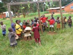 Kindergarten children during recess