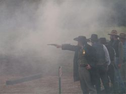 Thre Great Jesse James Frontier Revolver Shoot Out