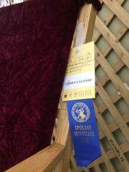 Close up of ribbon on rocking chair