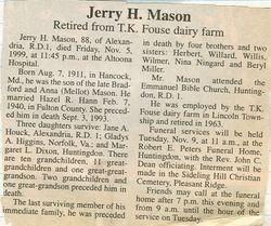 Mason, Jerry H. 1999