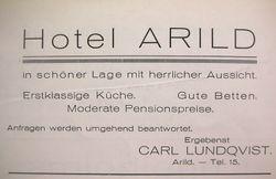 Hotell Arild (Rusthallargarden) 1926