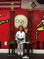 05/16/2015 S. Pavlou TKD Championships  Madelyn Duran 1st Place Forms  2nd Place Breaking  1st Place Sparring