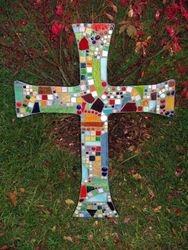 """All His Children"" mosaic cross"