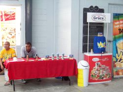SPONSORS BOOTH AT THE TOURNAMENT