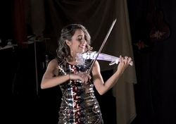 Electric Violin with light