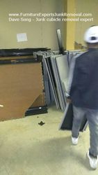 Junk office cubicle removal in arlington VA