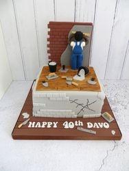Plasterer Birthday Cake