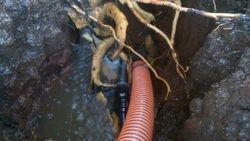 Safe Exposure of Broken water line