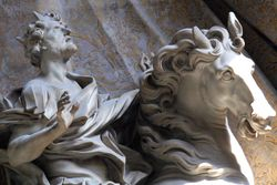 Bernini, Vision of Constantine, detail, St Peters