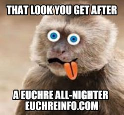 That look you get after a Euchre all-nighter.