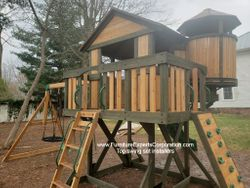 Backyard Discovery Eagle's Nest Elite Playset installation in Baltimore MD