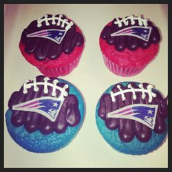 Patriot Football Cupcakes