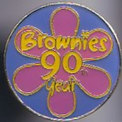 Brownies 90th Birthday Badge Metal, 2004