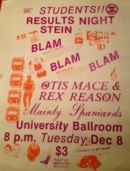 Blam Blam Blam at Canterbury University Ballroom 1981