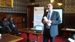 Sardar Aftab Khan speaking at Parliamentary Reception House of Commons