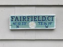 Fairfield, CT sign w/ sand dollar