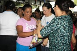 Distribution of food and gifts