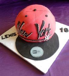 baseball cap birthday cake