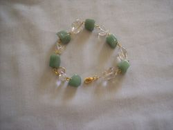 Aventurine nugget beads and glass nuggets