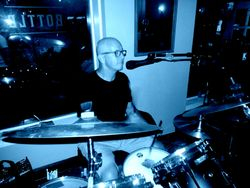Greg on the drums