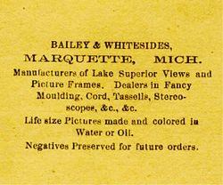 Bailey & Whitesides, photographers of Marquette, MI - back