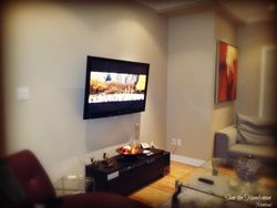 "46"" wall mount TV installation"