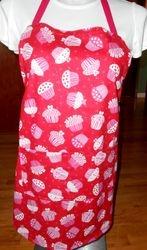 Valentine cupcakes apron on ETsy