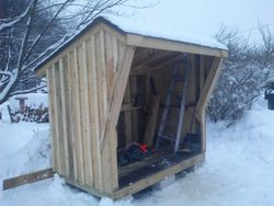 firewood shed - holds a little over a cord of wood