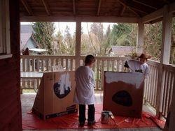 Wildwoodville's painters prepare more storefronts