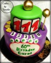 Slot Machine Cake for 60th Birthday