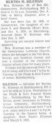 Hileman, Bertha M. Bice 1984