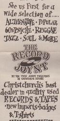 The Record Joynt Christchurch