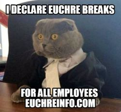 I declare Euchre breaks for all employees.