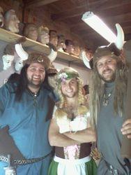 vikings and bar maid