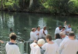Pastor Michael Baptizing