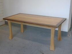 "Dark frame table: 17""high x 41""wide x 20""deep  $50.00"