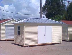 10x16 with double door and hipp roof