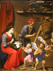 Saraceni, Holy Family, c. 1615, Hartford