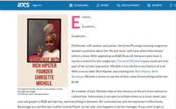 Backstage with Chrisette Michele