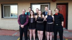 McCreary group before banquet