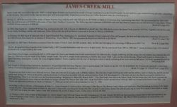 History of the James Creek Mill