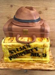 Indiana Jones themed birthday cake