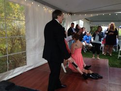 Equal rights even with putting on the garter
