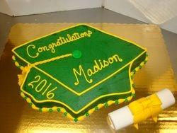 15 serving cake $55 fondant diploma $7