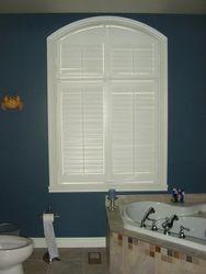Persienne PVC blanc avec arche