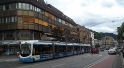 Variobahn tram on Thibautstrasse.